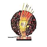 Deko-Leuchte Stimmungsleuchte Stehleuchte Tischleuchte Tischlampe Bali Asia Feng Shui Color Rot