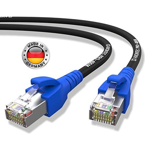 Bl Cat6 Patch (AIXONTEC® 2,0Meter CAT6 High-Speed LAN-Netzwerk-Gigabit-Ethernet-Kabel geschirmt halogenfrei Blauer Premium RJ45-Stecker 10/100/1000Mbit/s Draka-Gigabit-Patch-FTP-Kabel)