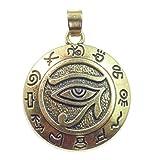 All-Schützendes Auge,Anhänger, Horus Auge, Symbol für Schutz vor negativen Energien, 18 Karat vergoldet, Antik Style Vergoldung,Versand innerhalb 24 Stunden !!!