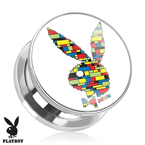 Plug Playboy en acier chrirugical 316L Taille 12 mm
