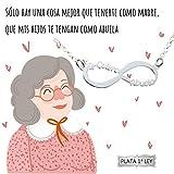 Collar infinito Te Quiero Abuela Plata de Ley 925   Joyas para regalar   Regalo Envío gratis