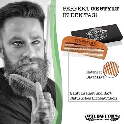 Wildwuchs Bartpflege, Kulturbeutel mit Bartoel, Bartbuerste, Bartkamm, Bartwachs Abbildung 3