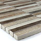 Holz-Optik Feinsteinzeug Mosaik Tilos 15x98x10mm Colour Mix