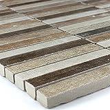 Holz-Optik Feinsteinzeug Mosaik Tilos 15x98x10mm Colour Mix