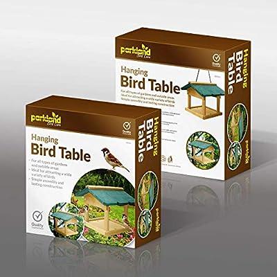 SmashingDealsDirect Hanging Wooden Bird Table by Smashing Deal Direct®