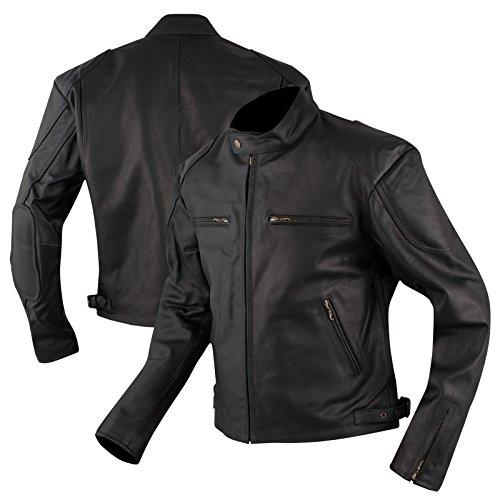 A-pro giacca pelle cuoio custom vintagè retrò moto naked american nero xl