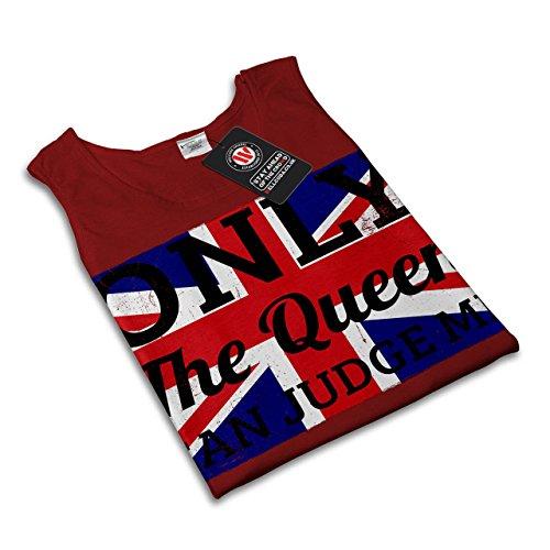 Königin Liebe Richter Flagge Vereinigtes Königreich britisch Damen Schwarz S-2XL Muskelshirt | Wellcoda Rot