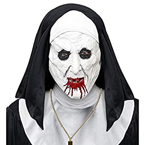 WIDMAN Mascara de Monja del Horror - Halloween, Mascaras, Antifaces y Caretas