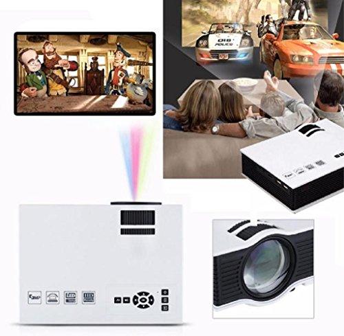 Tongshi 1080P HD LED Multimedia Home Centro de Cine VGA de TV USB y HDMI mini proyector