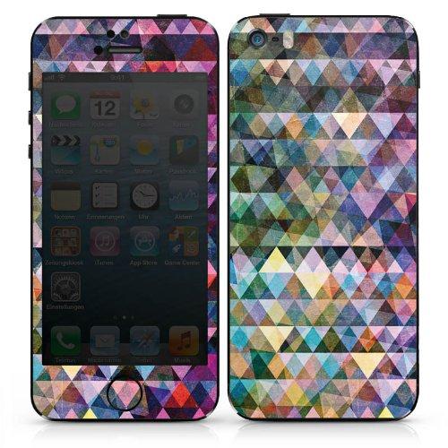 Apple iPhone 4s Case Skin Sticker aus Vinyl-Folie Aufkleber Muster Farben Dreiecke DesignSkins® glänzend