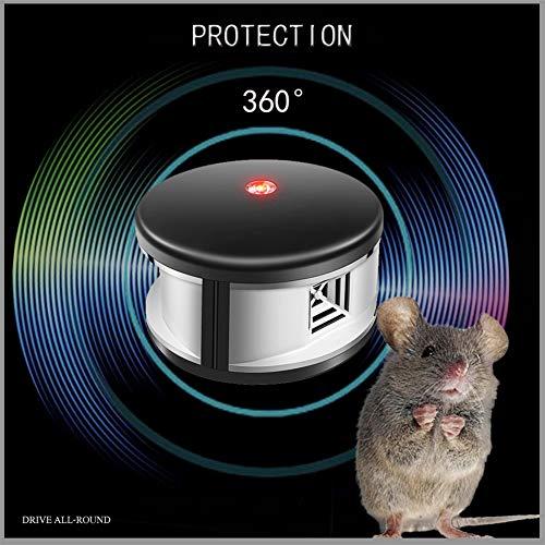 QKa Ultraschall-Tiervertreiber, elektronische Mäusemäuse Ratten-Eichhörnchen-Nagetier-Schädlingsvertreiber-Abwehrmittel-Abschreckungs-Fahren kein Abbruch - Abschreckung Ratte