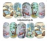 ACNails-Nagel Sticker Wasser Transfer Sticker Nailart Nagel Tattoos Nagelaufkleber Winter Weihnachten Motive Full Cover - A1139