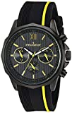 Peugeot Men's 'Chronograph' Quartz Metal and Silicone Sport Watch, Color:Yellow (Model: 2046BYL)