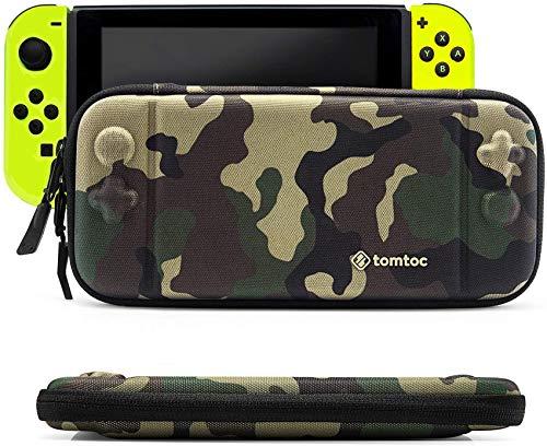 tomtoc Funda Delgada para Nintendo Switch, Concha Dura portátil Estuche Duradera para Viaje con 8 Cartuchos de Juego y una Bolsa de Accesorios para la Consola de Nintendo Switch, Camuflage