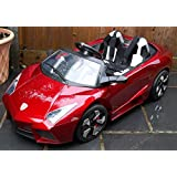 Kids 2 Seater Lamborghini Style Sports Car with Remote Control 12v Electric / Battery Ride on Car - Red Lambo