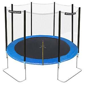 Ultrasport Gartentrampolin Jumper inkl. Sicherheitsnetz, Blau, 305 cm, 330700000120