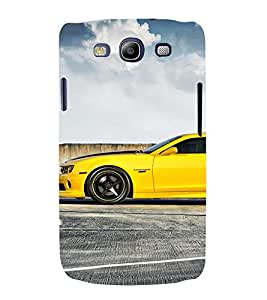 EPICCASE Yellow Car Mobile Back Case Cover For Samsung Galaxy S3 (Designer Case)