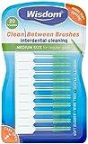 Wisdom Medium Green Clean Between Interdental Brushes - Pack of 20