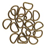 Baoblaze 100 Stück D Ringe Halbringe, Legierung für Gurt Band Riemen Schnalle Gürtelschnalle - Bronze, 12x8x1.8mm