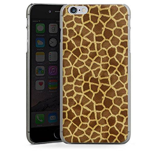 Apple iPhone 5s Housse Étui Protection Coque Look girafe Fourrure Animaux CasDur anthracite clair