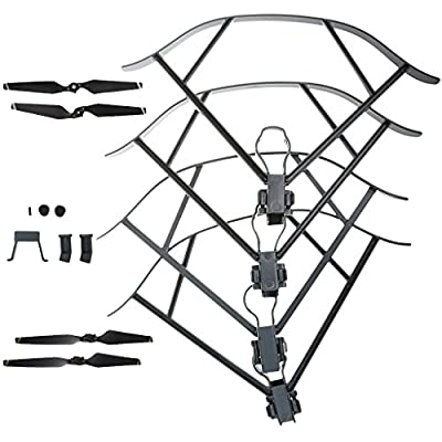 MagiDeal Grey Heightened Landing Gear Kit with 4 Pieces Propellers & 4 Pieces Propeller Guard Set for DJI Mavic Pro Drone Parts by MagiDeal