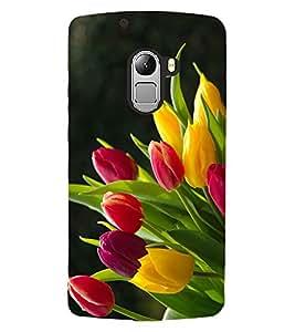 ColourCraft Lovely Flowers Bouquet Design Back Case Cover for LENOVO VIBE X3 LITE