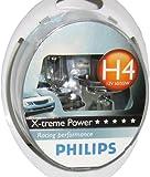 Philips 12342XPS2 X-treme Power - Bombilla H4 (2 unidades, 12 V, 60 - 55 W, 80% más potencia)