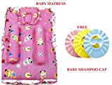 #8: Exciting Dealz New Born Baby Gift Offer Baby Mattress Free Adjustable Baby Shampoo Cap Child Ear Protection Bath Cap
