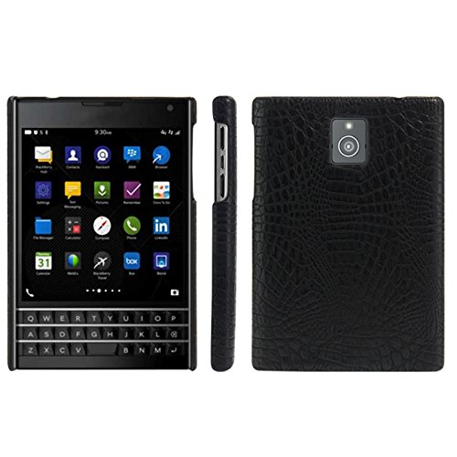 HualuBro BlackBerry Passport Hülle, [Ultra Slim] Premium Leichtes PU Leder Leather Handy Tasche Schutzhülle Case Cover für BlackBerry Passport Smartphone (Schwarz)