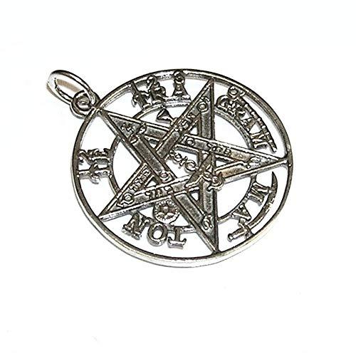 perlascarel Colgante Tetragramaton 30 mm Plata de Ley 925 3 CM. Estuche Incluido
