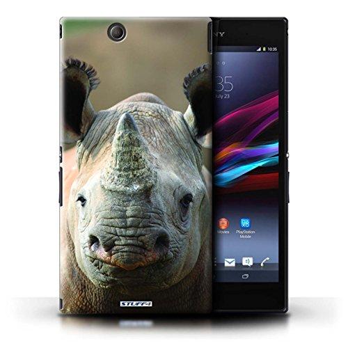 KOBALT® Hülle Case für Sony Xperia Z Ultra   Löwe Entwurf   Wilde Tiere Kollektion Nashorn
