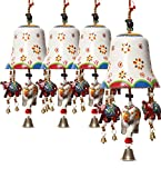 #8: DreamKraft HandCrafted Paper Mache Big Bell With Elephant Decorative Hanging For Festival Wall Home Decoration (58 CM)