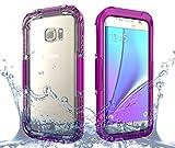 BasicStock Samsung Galaxy S7 Edge Wasserdichte Hülle, IP68 Wasserdicht Snowproof Staubdicht Heavy Duty Schutz Unterwasser Schutzhülle mit Displayschutzfolie für Samsung Galaxy S7 Edge (Pink)