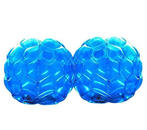 Lvmiao Bumper Balls Aufblasbare Buddy Bubble Ball Auch als Menschliche Zorb Fußball Im Freien Spielen 24In Größe Für Kinder und Erwachsene Aller Altersgruppen (2-Pack),Blue (Ball Hamster Größe Kind)