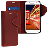 kalibri Samsung Galaxy A5 (2017) Hülle - Leder Handyhülle für Samsung Galaxy A5 (2017) - Handy Wallet Case Cover