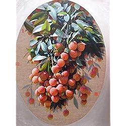 UBEN Cuadro en Lienzo Moderno - Fruit - 60 * 90 cm Pintura al óleo Pintada a Mano Decorativo,sin Marco