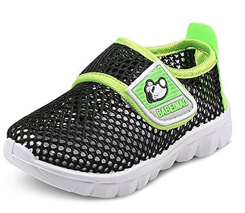 DADAWEN Chaussons Aquatiques Mesh Running Sneakers Sandales pour bébé garçon fille- noir 21