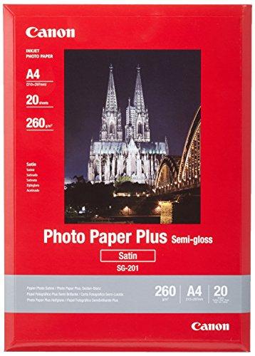 fotopapier matt a4 Canon SG-201 Fotopapier Plus Seidenglanz, matt (260 g/qm), A4, 20 Blatt