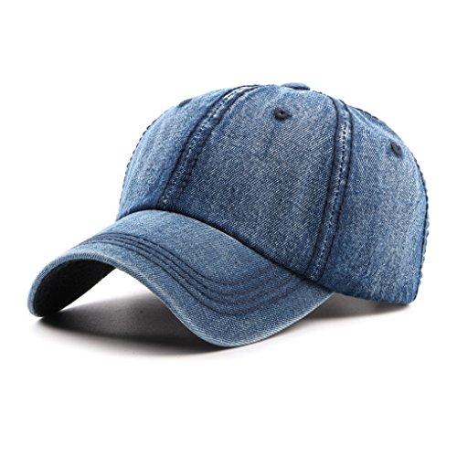 Baseball Cap Mütze Kappe Hut Jeans Sonnenhut Schirmmütze Hip Hop Cap Sommerhut für Damen Herren Mädchen Jungen,Verstellbar mit Metallclip