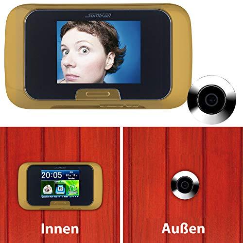 Somikon Türspion Kameras: Digitale Türspion-Kamera mit manueller Foto- und Videoaufnahme (Türspion Kamera Aufnahmefunktion)