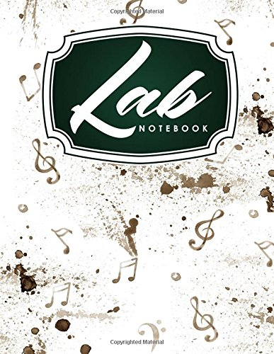 Lab Notebook: Chemistry Laboratory Notebook, Lab Notebook Ruled, Lab Notebook Graph, Student Lab Notebook, Music Lover Cover - Student Lab Notebook