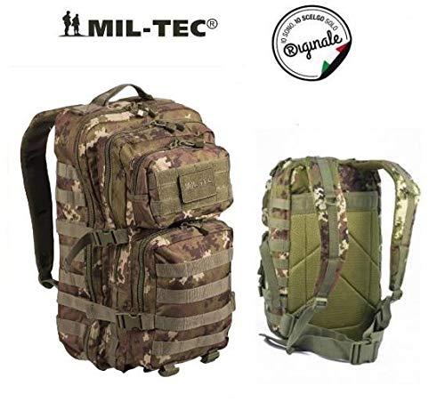 Zaino incursore mil-tec tattico militare 42 litri 3 days vegetato italiano