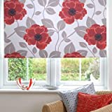 Sunlover Patterned Thermal Blackout Roller Blind, Papavero, W60cm