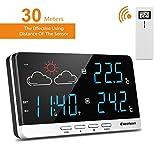 Excelvan Wireless Funkwetterstation Wetterstation Präzisionsvorhersage Temperatur Außensensor - 2
