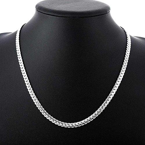 Juily 5mm 925 Solid Sterling Silver Necklace Chain 20