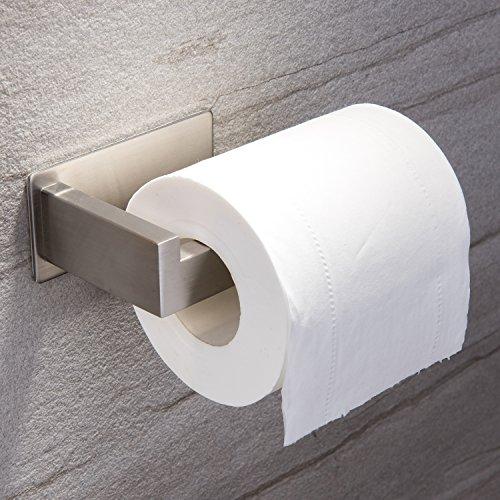 Ruicer porta carta igienica in acciaio inox - porta rotolo carta igienica adesivo per bagno e toilette