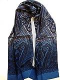 BBM-STYLE Herrenschal Seidentuch Krawatte Schal zum Binden Herrentuch Paisley Muster 100% reine Seide Alternative zur Krawatte
