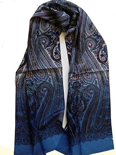 Herrenschal Seidentuch Krawatte Schal zum Binden Herrentuch Paisley Muster 100% reine Seide Alternative zur Krawatte (Herren Krawatte Seide Schal)