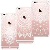 [3 Stück] iPhone 5 Hülle, iPhone 5S Hülle, iPhone SE Hülle, Blossom01 Cute Funny Kreative Cartoon Transparent Silikon Bumper für iPhone 5 / 5S / SE - 3 * Mandala