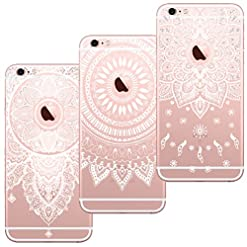Capas para iPhone 7 Plus e iPhone 8 Plus de mandalas (3 Pack)